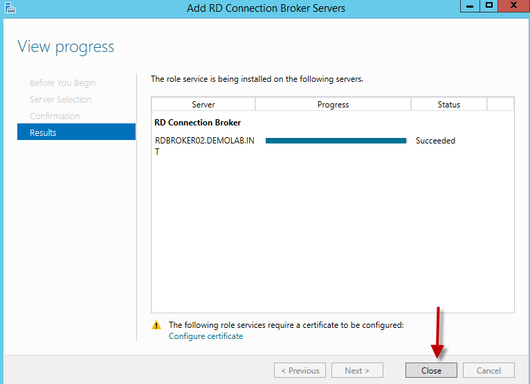 Configuring HA for the RDS Connection Broker