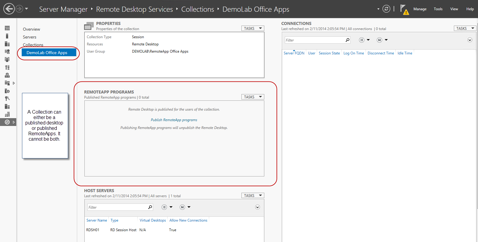Collections – Publishing RemoteApp programs and Session Desktops on