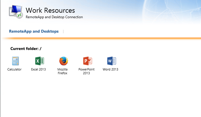 Collections – Publishing RemoteApp programs and Session