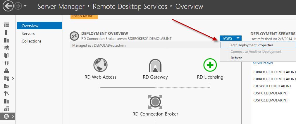 Deploying a 2012 / 2012R2 Remote Desktop Services (RDS) farm