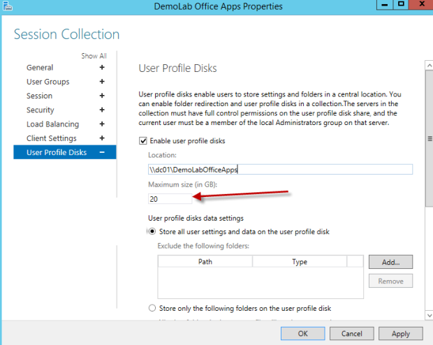 User Profile Disks for RDS 2012 / 2012 R2 | thewolfblog